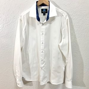 Michelsons London East End White Textured Shirt